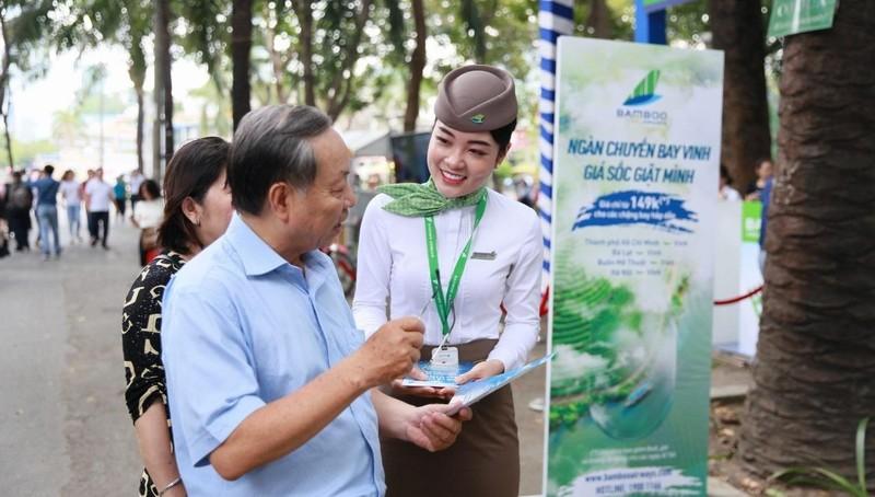 Hàng ngàn vé máy bay 199.000 VND đã được Bamboo Airways bán ra trong ngày hội du lịch TP Hồ Chí Minh 2019