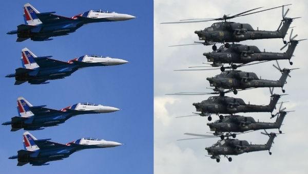 Mãn nhãn với màn nhào lộn cực hoành tráng của dàn máy bay 'khủng' của Nga