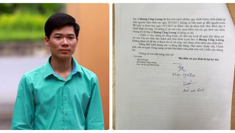 Người nhà nạn nhân đồng loạt kêu gọi Tòa án 'minh oan' cho bác sĩ Hoàng Công Lương
