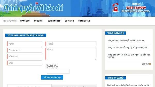 Thừa Thiên Huế ra mắt kênh tương tác 'Chính quyền với báo chí'