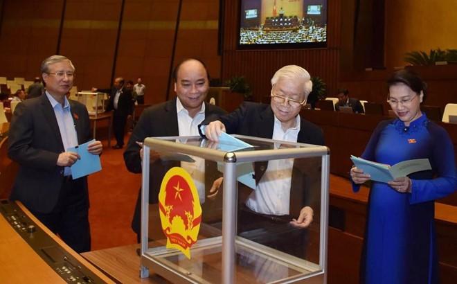 Chủ tịch Quốc hội, Thủ tướng đứng đầu về số phiếu 'tín nhiệm cao'