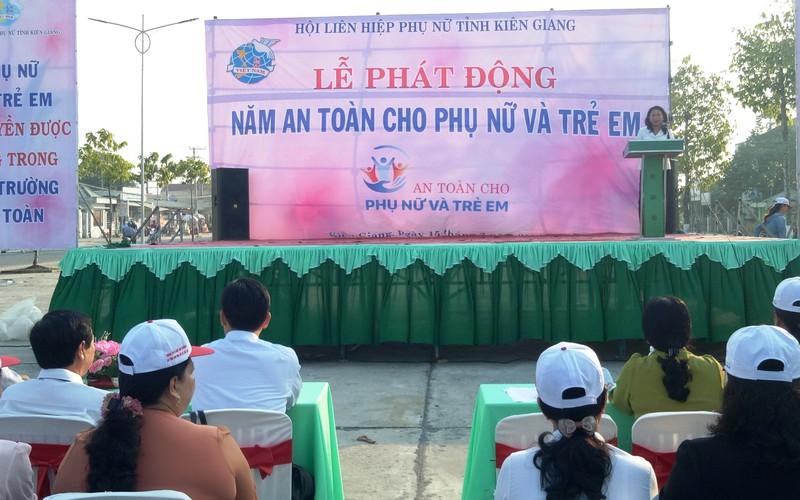 Kiên Giang phát động năm An toàn cho phụ nữ và trẻ em