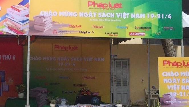Báo Pháp Luật Việt Nam đồng hành cùng Ngày sách Việt Nam tại Kiên Giang