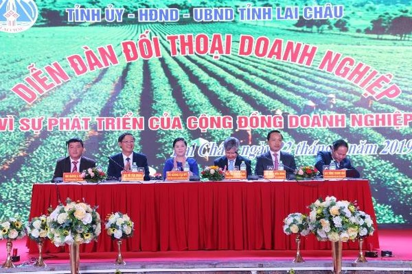 Lãnh đạo tỉnh Lai Châu cam kết sát cánh cùng cộng đồng doanh nghiệp