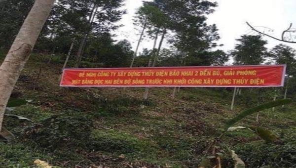 Người dân bức xúc với việc đền bù giải phóng mặt bằng Dự án thủy điện Bảo Nhai 2