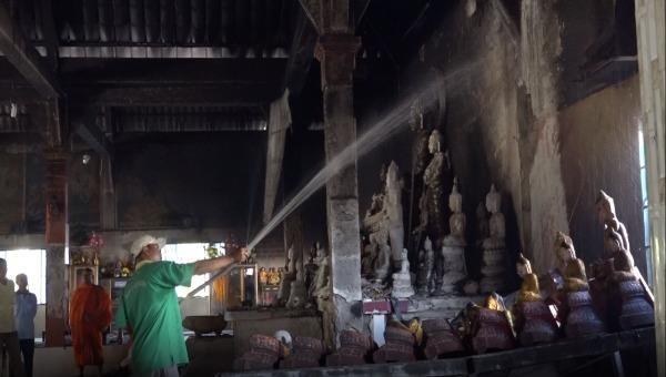 Cháy chùa Tà Bết ở Kiên Giang, 150 tượng phật bị thiêu rụi