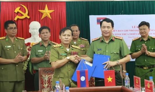 Công an Thừa Thiên Huế và tỉnh Sê Kong (Lào) ký kết hợp tác