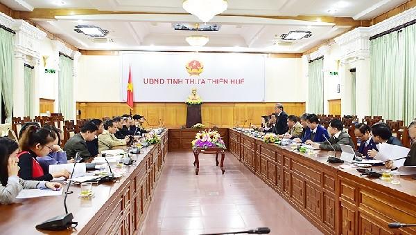 Ủy ban Tài chính - Ngân sách Quốc hội làm việc tại tỉnh Thừa Thiên Huế