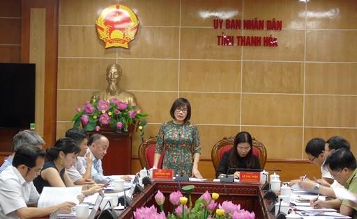 Thứ trưởng Đặng Hoàng Oanh kiểm tra tình hình thi hành pháp luật tại Thanh Hóa