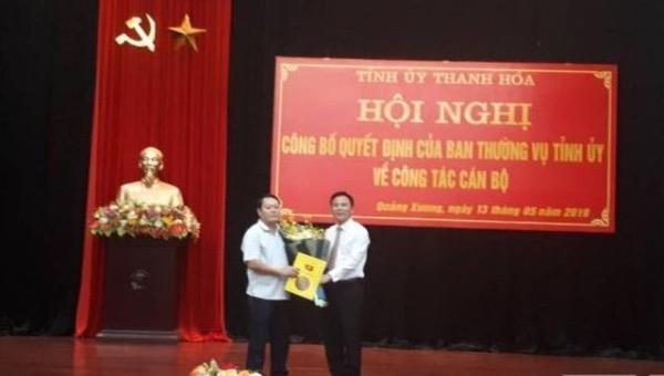 Luân chuyển công tác cả Bí thư và Chủ tịch huyện Quảng Xương