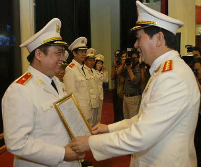 Ông Đỗ Hữu Ca - Giám đốc CA TP HP được thăng hàm Thiếu tướng